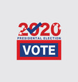 2020 united stated america presidential vote vector image vector image