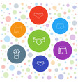 7 shorts icons vector image vector image