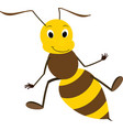 a friendly cute bee vector image vector image
