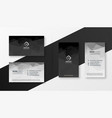abstract black and white business card template vector image vector image