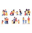 adoption cartoon couple adopt happy international vector image vector image