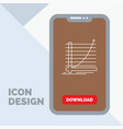 arrow chart curve experience goal line icon in vector image vector image