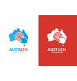 australia and click logo combination vector image vector image