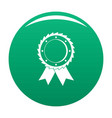 award icon green vector image