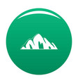 beautiful mountain icon green vector image