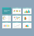 Big set of templates for presentation vector image vector image