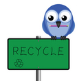 bird sign recycle vector image vector image