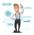 business man cartoon startup vector image
