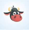 cartoon cute cow vector image vector image