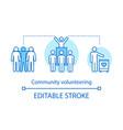 community volunteering concept icon vector image vector image