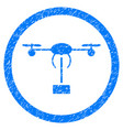copter shipment rounded grainy icon vector image vector image