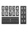 Countdown timer Black mechanical scoreboard panel vector image vector image