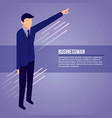 data network businessman vector image