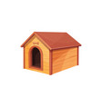 dog house isolated doghouse building isolated icon vector image