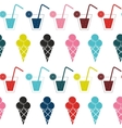 Drink and ice-cream seamless pattern background vector image vector image