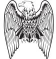 Eagle with the lowered wings