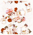 floral seamless pattern with roses in vintage vector image vector image