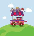 food cart vendor vector image