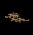 golden text on black background happy new year vector image vector image