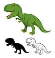Green gigantic Dinosaur Tyrannosaurus Rex vector image vector image
