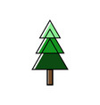 green tree pine forest on white background vector image