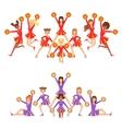 High-School Profession Cheerleading Teams Of Girls vector image