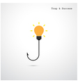 Hooks and light bulbs vector image vector image