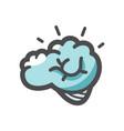 human brain storm icon cartoon vector image