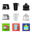 kitchen and cook icon set vector image