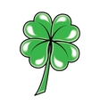 Leaf clover icon object on white background vector image