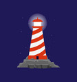 lighthouse or searchlight tower for maritime vector image vector image