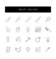 line icons set beauty pack vector image vector image