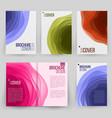 magazine annual report design cover vector image