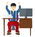 Man working at office vector image vector image