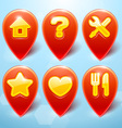 Map Markers Set vector image vector image
