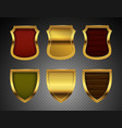 medieval shields realistic metal shields vector image vector image