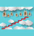money and stair vector image