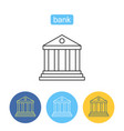 money banking outline icons set vector image vector image