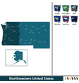 northwestern of united states vector image vector image