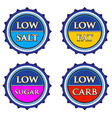 nutrition info tag set vector image