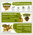 olive oil and fruit healthy food banner template vector image vector image
