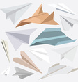 origami paper plane collection for websites-flat vector image