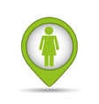 person recycle pin map icon vector image vector image