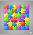 puzzle background banner vector image