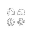 Quiz test line icon select answer sign