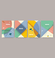 retro design templates for a4 covers banners vector image vector image