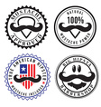 Retro hipster stamps and labels vector image vector image