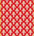 royal heraldic lilies seamless pattern vector image vector image