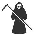 scytheman flat icon vector image