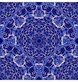 Seamless background of circular patterns Navy vector image